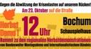 23. Oktober Gemeinsame Anreise zur regionalen Herbstdemo