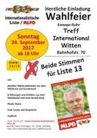 Abschlusskundgebung und Wahlfeier der Internationalistischen Liste/MLPD