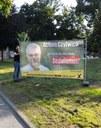 Achim Czylwick nun auch als Großplakat in Witten präsent - Protest gegen anhaltende Pressezensur