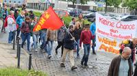Demonstration zur Solidarität mit Flüchtlingen