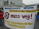 Protestkundgebung für bessere Behandlung von Flüchtlingen