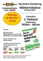 Einladung zur Wählerinitiative der Internationalistischen Liste/MLPD