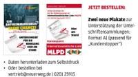 """Pressemitteilung der MLPD """"Bundeswahlleiter stellt Bundestagswahlteilnahme der MLPD und damit ihre Parteienrechte infrage - Jetzt erst recht für Wahlzulassung unterschreiben"""""""