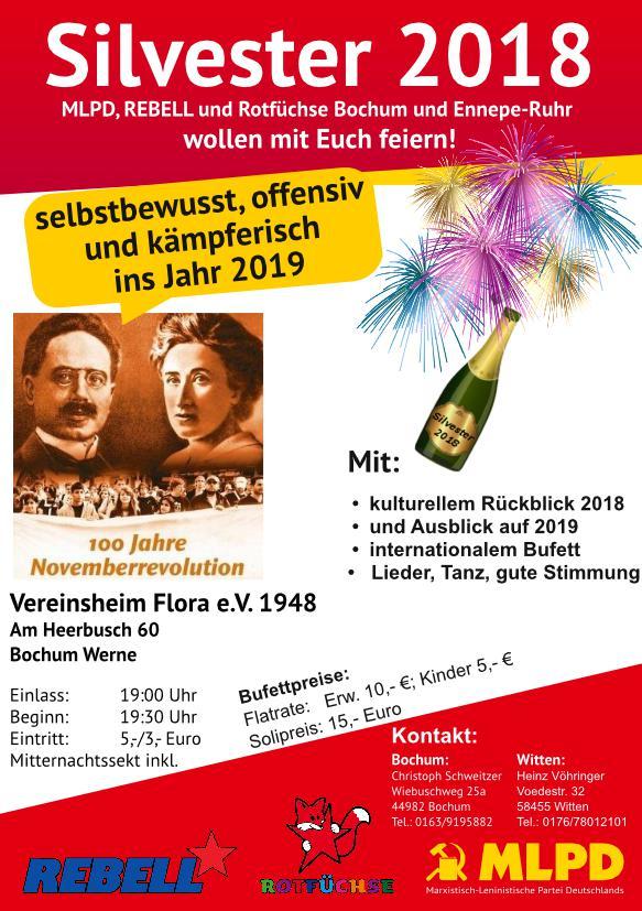 Silvester 2018 - herzliche Einladung
