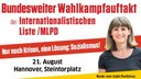 Wählerinitiative Achim Czylwick fährt zum bundesweiten Wahlkampfauftakt